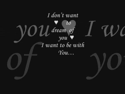 Don t want to dream about you