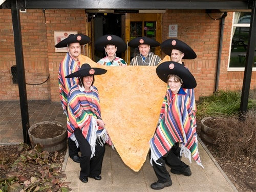 Muy grande! Restaurant bakes 7-foot tortilla chip, feeds to ducks (Brewers Fayre)