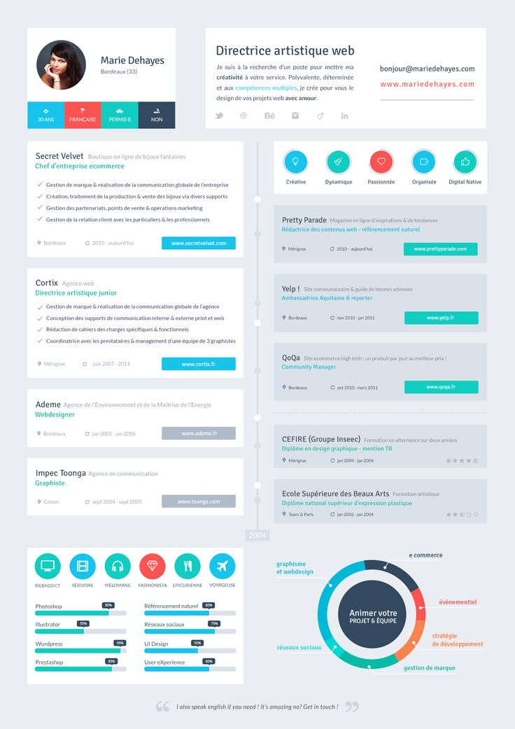 resume flat ui design cv designs