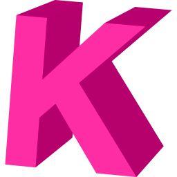 K Letter Images In Pink Hot Pink Letter K... | K | Pinterest