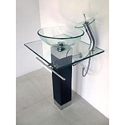 Glass Pedestal Sinks Bathroom : glasses