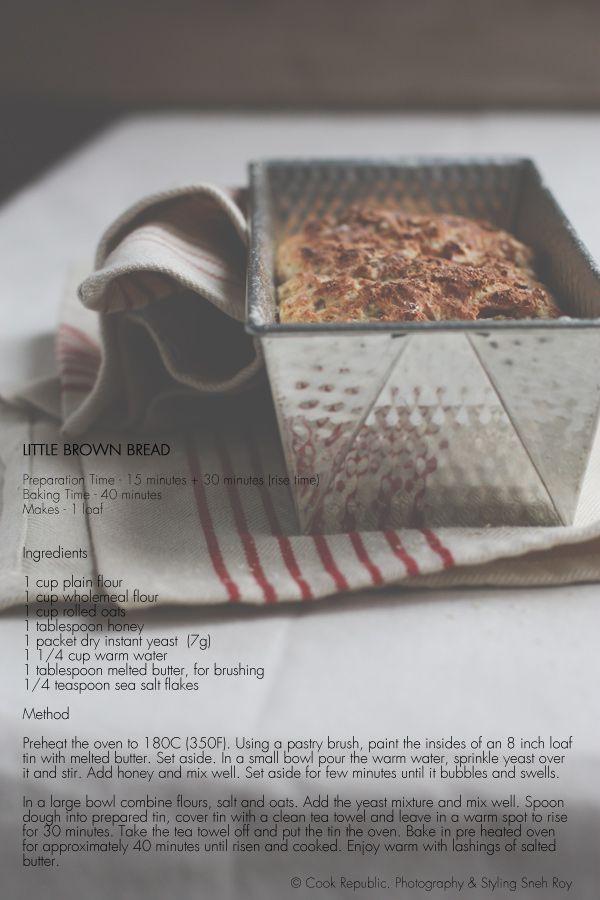 Easy Little Brown Bread Recipe Card | wanna try that .... sourdough a ...