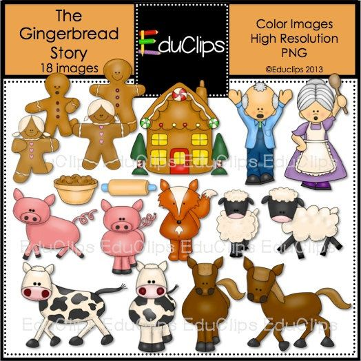 Gingerbread Story Clip Art