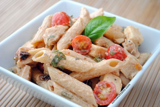 Spicy Pasta Salad with Chicken and Smoked Gouda by So, How's It Taste ...