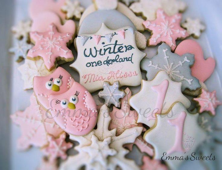 Winter onederland cookies 1st birthday ideas pinterest