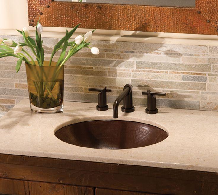 Copper sinks bathroom