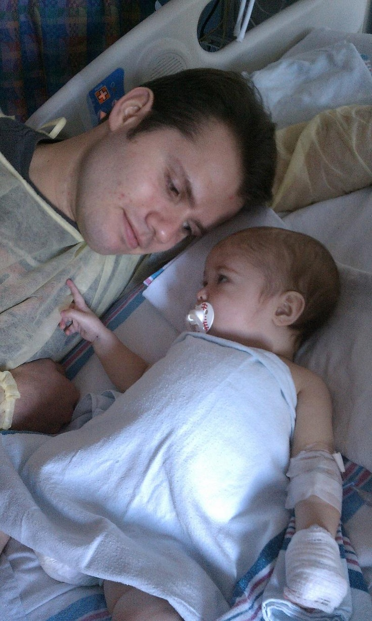 When Cooper was eight-and-a-half-months old he was in need of a liver transplant - Dad was there to donate his.  #donatelife