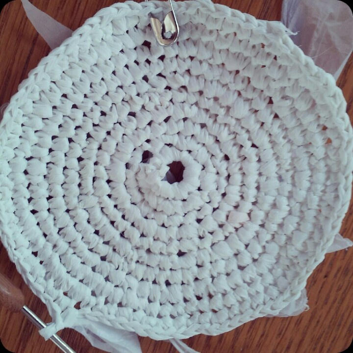 Plarn circle crochet Plarn Pinterest