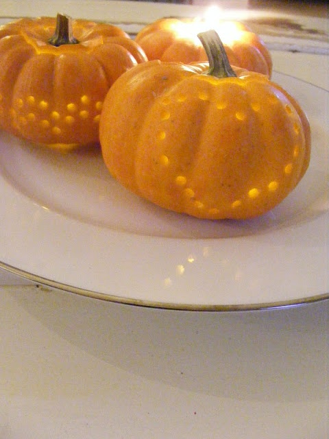 The Complete Guide to Imperfect Homemaking:  pumpkin candle holder tutorial