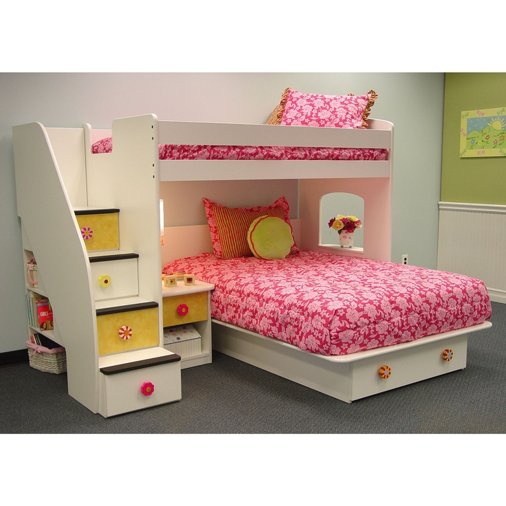 Best Utica Loft Twin Over Full L Shaped Bunk Bed With Storage 640 x 480