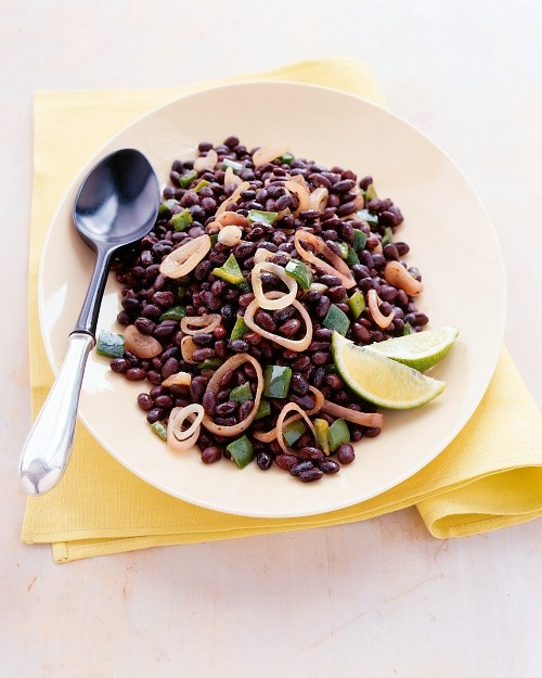 Black beans to accompany avocado chicken