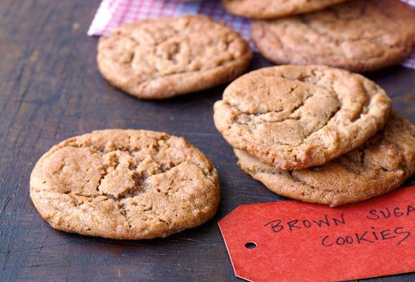 Simply sweet. And sweet tasting. Brown sugar cookies.
