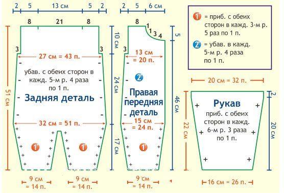 Схемы вязания для новорожденных комбинезона для 82