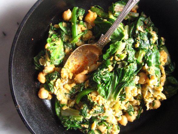 Spinach, sweet potato, chickpeas | Meal ideas | Pinterest