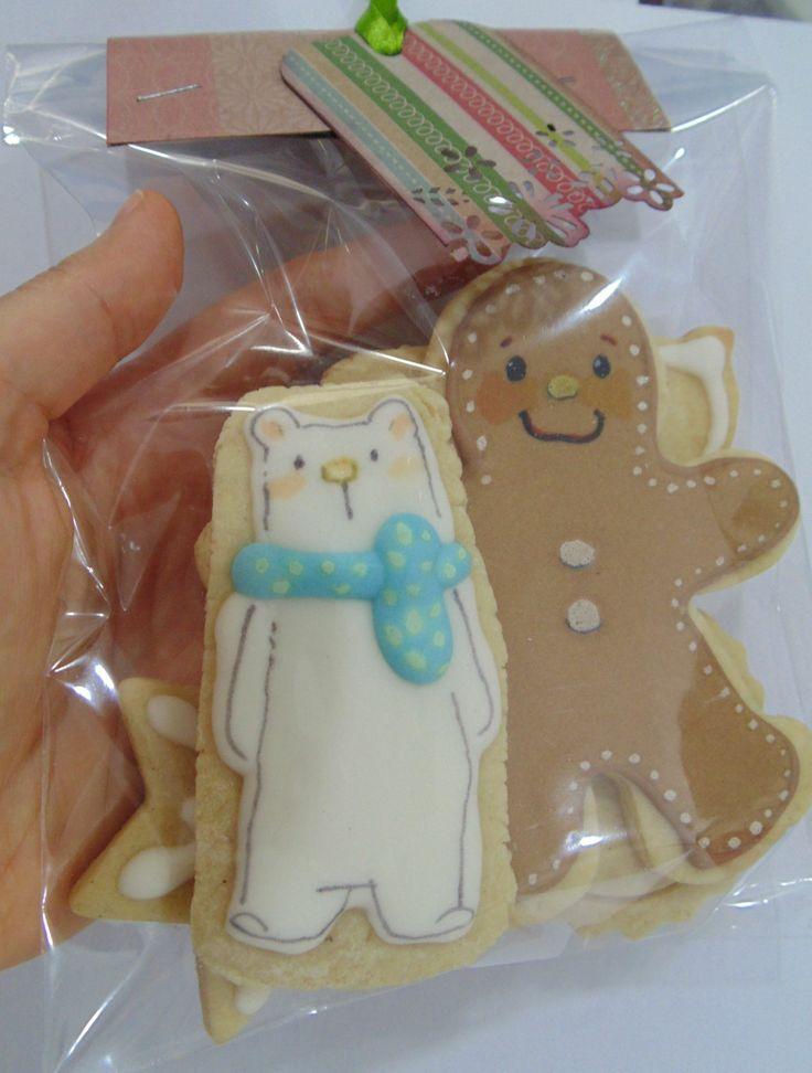 lembrancinha de Natal- cookie gift https://www.facebook.com/sokericookies?ref=hl