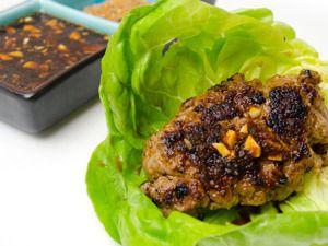 Seven spice (shichimi togarashi) pork lettuce wraps #pork