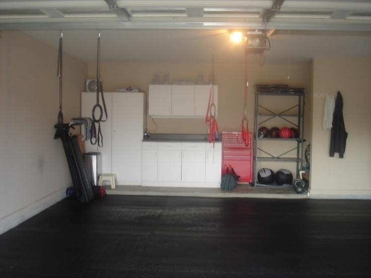 Pin by jennifer brannen on garage organization pinterest for How to turn garage into gym