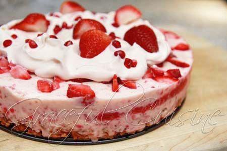 Strawberry ice cream cake recipe.... going to use regular ice cream ...