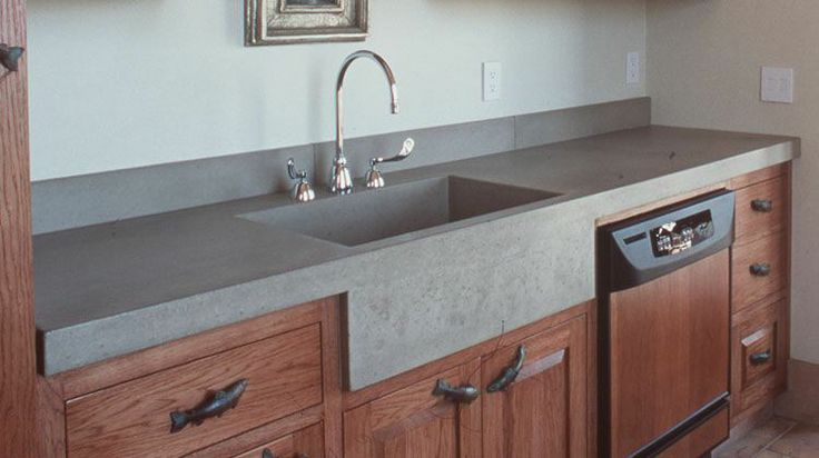 cement countertops - look away from the fish pulls and