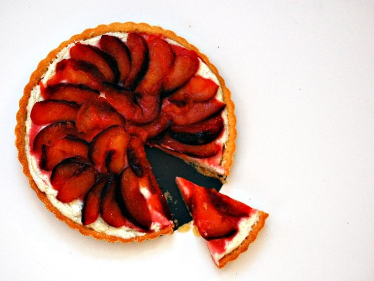 Mascarpone and Roasted Plum Tart | Recipe