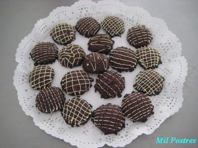 galletas de mantequilla y chocolate