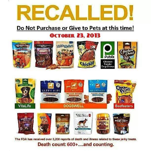 Recalls On Dog Food Or Treats