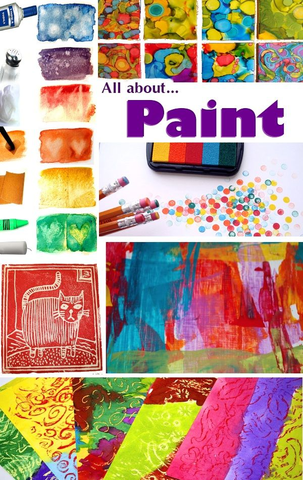 lots of different ways to paint.