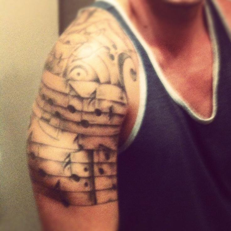 #music #sleeve #inked #tattoo #notes | Tattoo Ideas ...