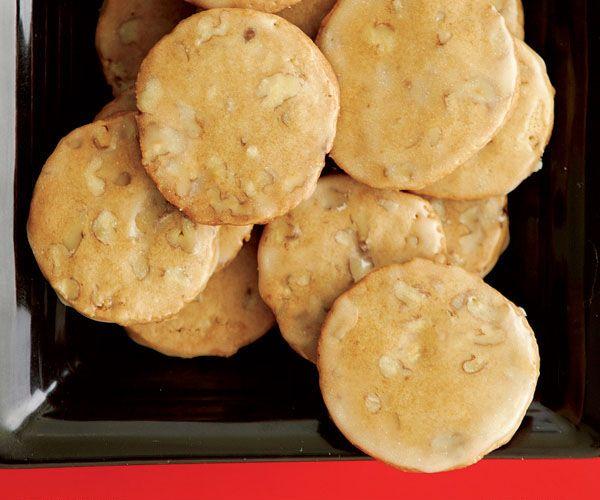 Glazed Maple-Pecan Cookies. Happy Canada day!