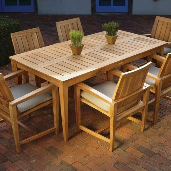 Outdoor Wooden Style Dining Table Outdoor Furniture Pinterest