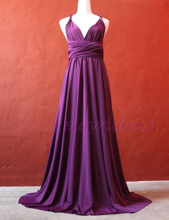 Deep Purple Wedding Dresses : Deep purple bridesmaid dress infinity women convertible wrap fo