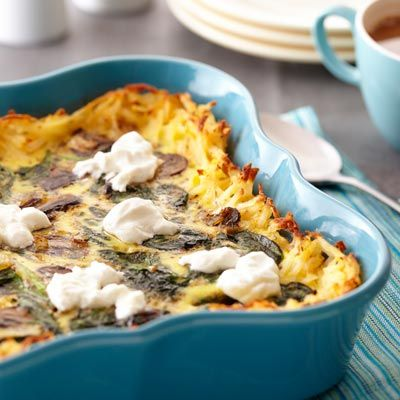 Florentine Hash Brown Egg Bake | Recipe