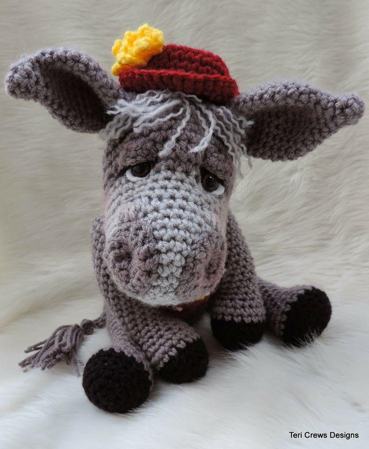 New Crochet : New Donkey Crochet Pattern Amigurumi Pinterest