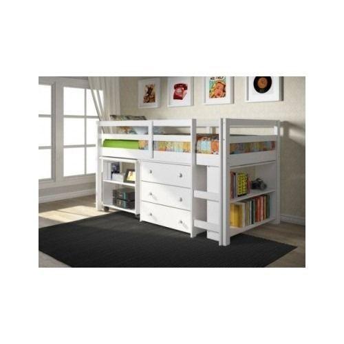 Kids Twin Loft Bed with Desk 500 x 500