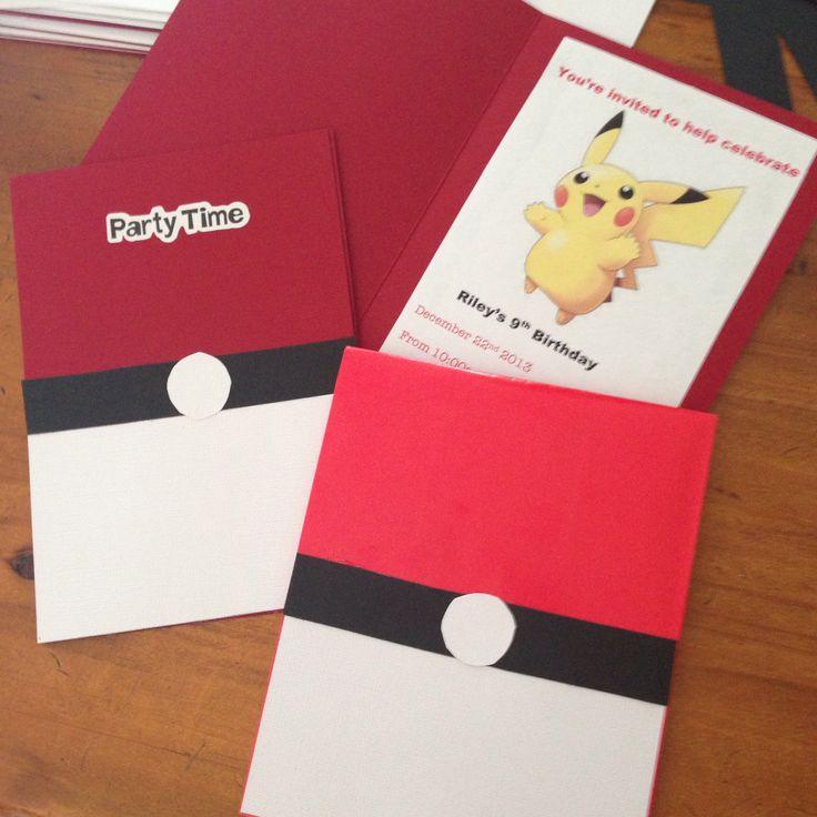 invitation anniversaire pokemon carte carton picture pictures. Black Bedroom Furniture Sets. Home Design Ideas