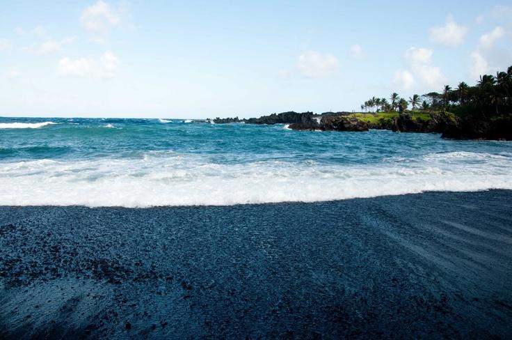 Punaluu Black Sand Beach I Heart Maui Pinterest