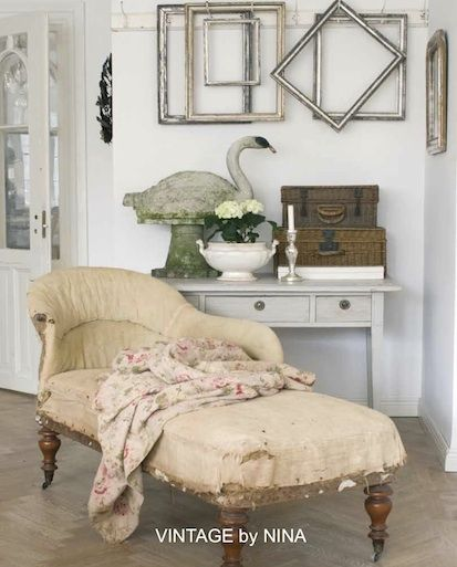 Chaise longue vintage by nina book primitive pinterest - Chaise de campagne ...