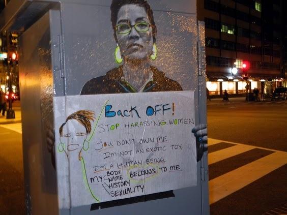 anti-street harassment street art