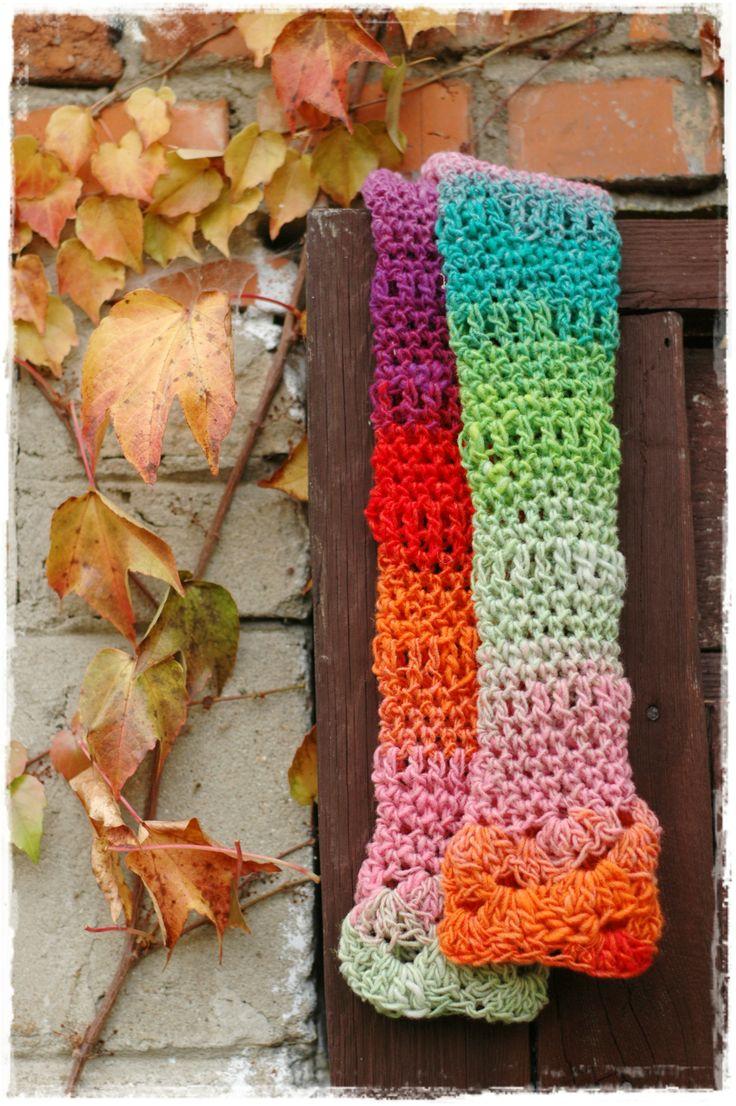 crochet noro mittens