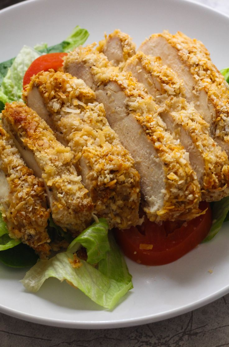 Healthy Twist on a classic oven fried chicken has never been so easy and quite addictive!
