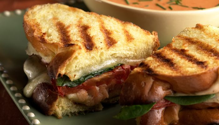 ... Smoked Salmon Grilled Sandwich (they say bake, but show grill marks