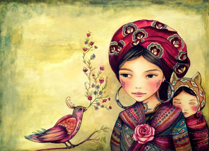 Мать и дитя, Этническая Вдохновение ~ Клаудия Трамбле
