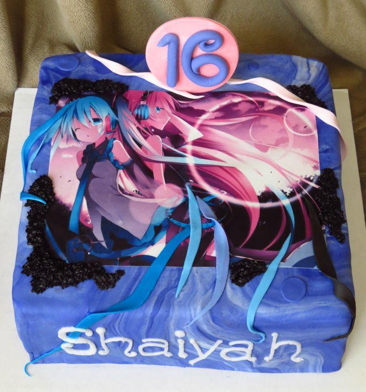 Anime Cake Designs Anime Birthday Cake