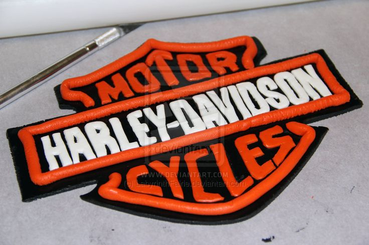 Edible Cake Images Harley Davidson : Harley-Davidson Fondant Emblem by LabyrinthFairie ...