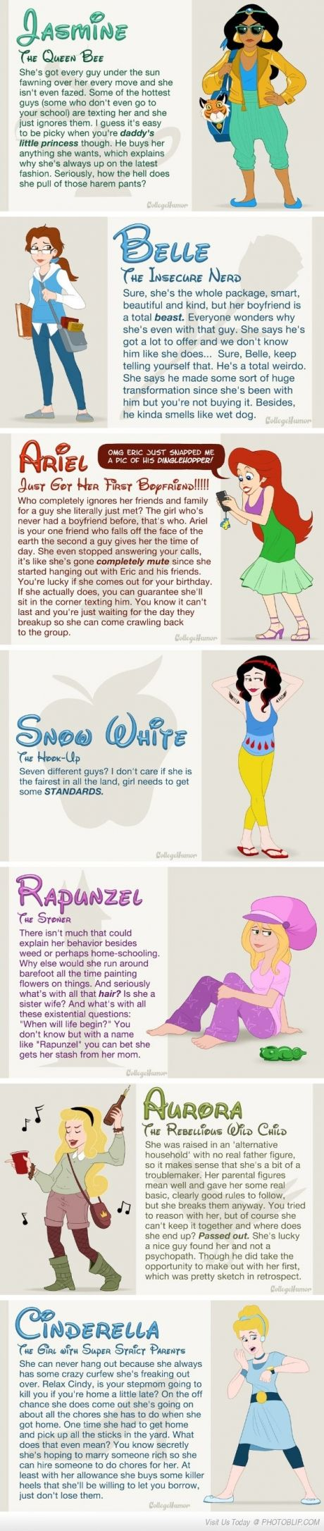 If Disney princesses went to high school