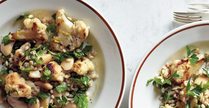 Cauliflower and Herbed Barley Salad - shake it up with black beans ...