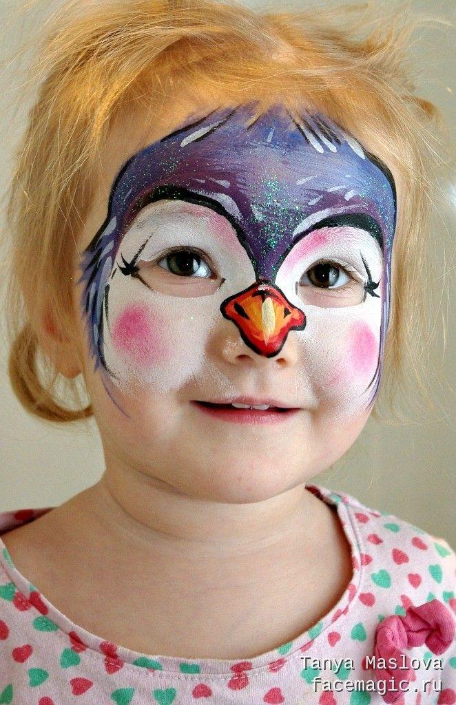 Penguin face paint
