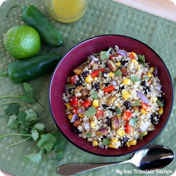 Southwest Quinoa Salad. First time making quinoa. I admit I didn't ...