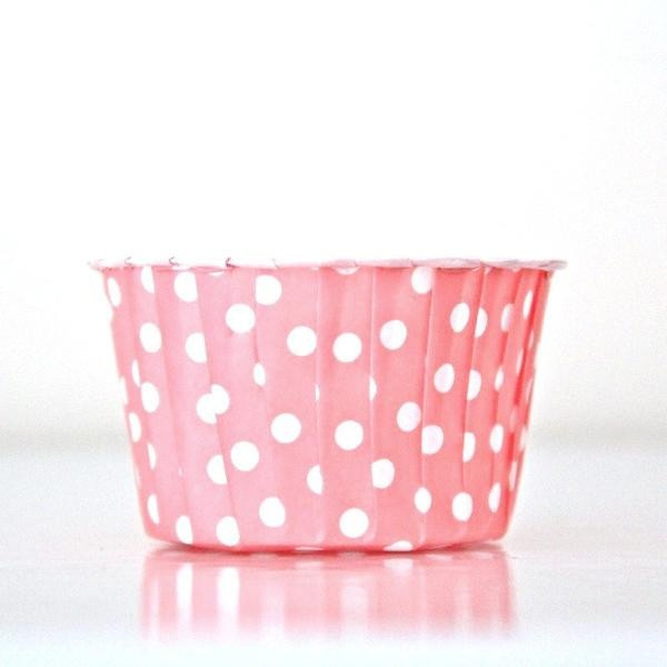 Polkadot Baking Cup Set 25 - Pink — Brown Paper Packages