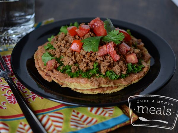 Dinner: GFDF double decker chipotle bean turkey tostada #OAMM #freezer ...